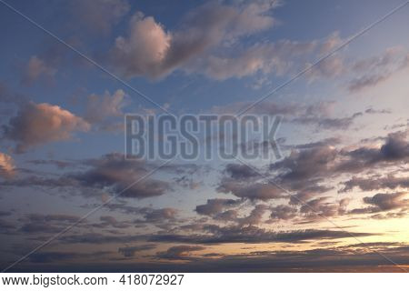 Spectacular Clouds In The Morning Sky At Sunrise