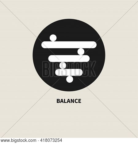 Balance Symbol. Psychological Wellbeing, Logo Stability. Peace Of Mind Sign. Vector Illustration