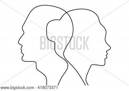 Concept Of Divorce, Quarrel Between Man And Woman