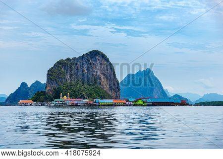 Ko Panyi ( Koh Panyee) Is A Muslim Fisherman Village In Phang Nga Bay, Thailand