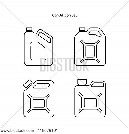 Change Car Oil Icon Set Isolated On White Background. Change Car Oil Icon Trendy And Modern Change C