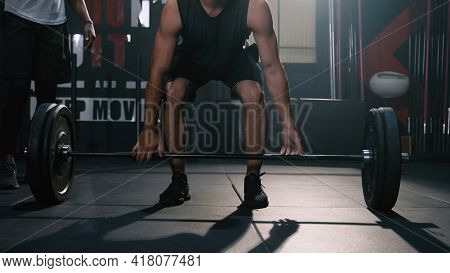 Athlete Sportman Workout Weight Training Exercise In Fitness Gym Healthy Lifestyle Bodybuilding, Ath