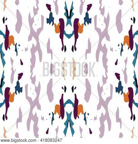 Spots, Ikat. Tie Dye, Batik. Seamless Pattern. Geometric Surface. Hand Drawn Painted. Bordo Gray Mod