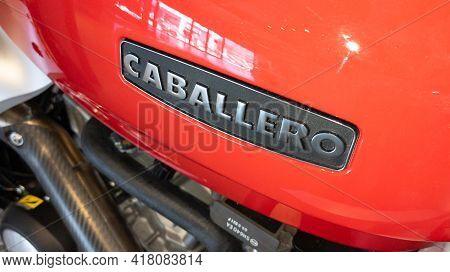 Bordeaux , Aquitaine France - 04 15 2021 : Caballero Motorcycle Text Brand On Tank Vintage Motorbike