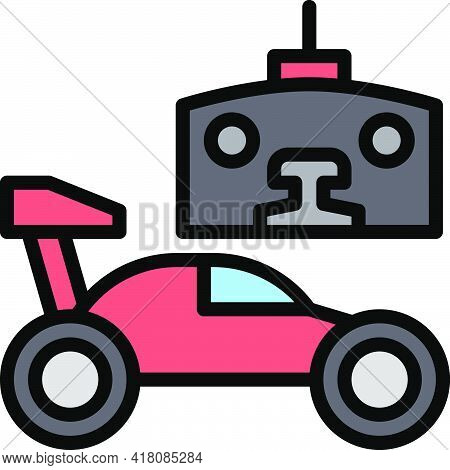 Rc Car Icon, Supermarket And Shopping Mall Related Vector Illustration