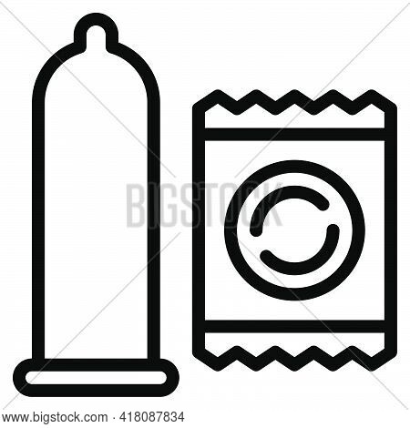 Condom Icon, Supermarket And Shopping Mall Related Vector Illustration