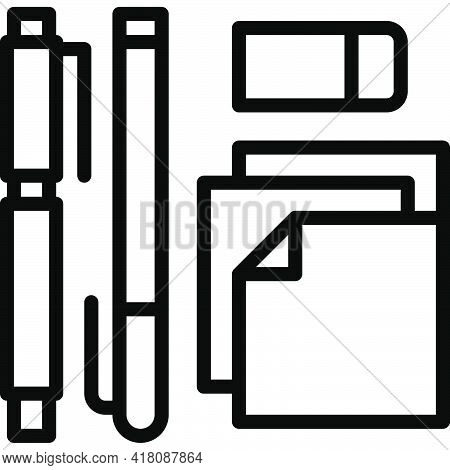 Stationery Icon, Supermarket And Shopping Mall Related Vector Illustration