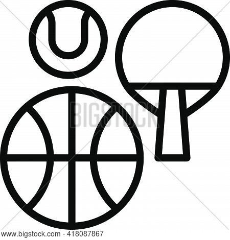 Sports Equipment Icon, Supermarket And Shopping Mall Related Vector Illustration