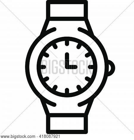 Watch Icon, Supermarket And Shopping Mall Related Vector Illustration