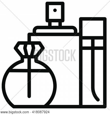 Perfume Icon, Supermarket And Shopping Mall Related Vector Illustration