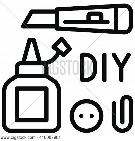 Diy Tool Icon, Supermarket And Shopping Mall Related Vector Illustration