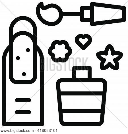 Manicure Icon, Supermarket And Shopping Mall Related Vector Illustration