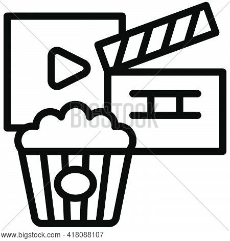 Theatre Icon, Supermarket And Shopping Mall Related Vector Illustration