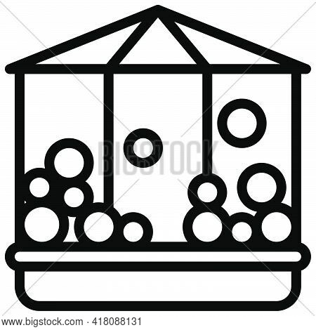 Ball House Icon, Supermarket And Shopping Mall Related Vector Illustration