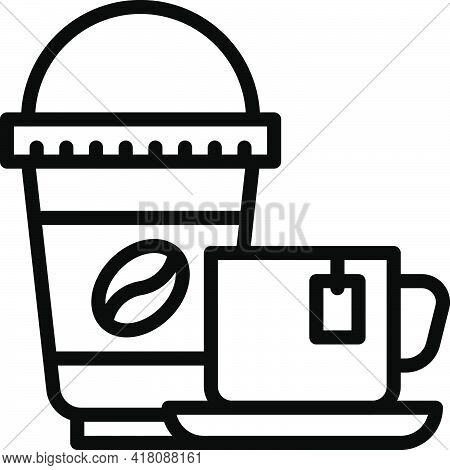 Coffee Icon, Supermarket And Shopping Mall Related Vector Illustration