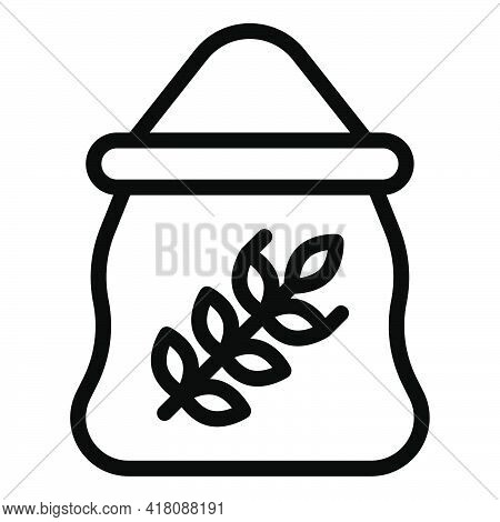 Flour Sack Icon, Supermarket And Shopping Mall Related Vector Illustration