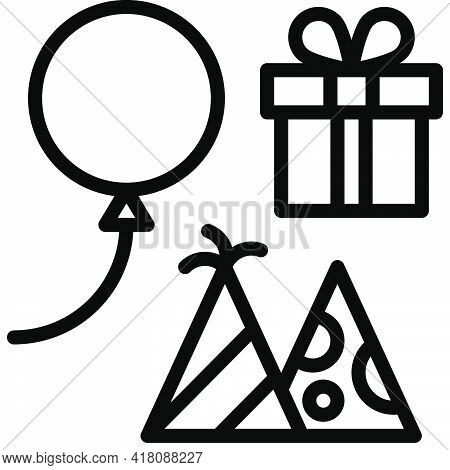 Party Decoration Icon, Supermarket And Shopping Mall Related Vector Illustration