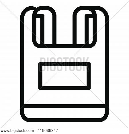 Plastic Bag Icon, Supermarket And Shopping Mall Related Vector Illustration