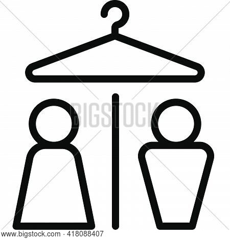 Changing Room Icon, Supermarket And Shopping Mall Related Vector Illustration