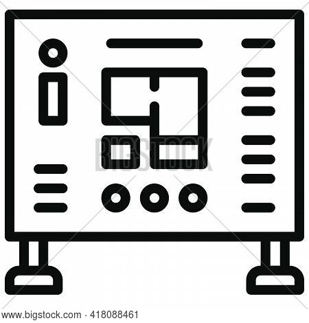 Map Icon, Supermarket And Shopping Mall Related Vector Illustration