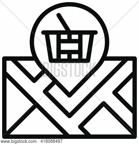 Location Icon, Supermarket And Shopping Mall Related Vector Illustration