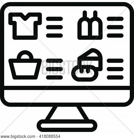Product List Icon, Supermarket And Shopping Mall Related Vector Illustration