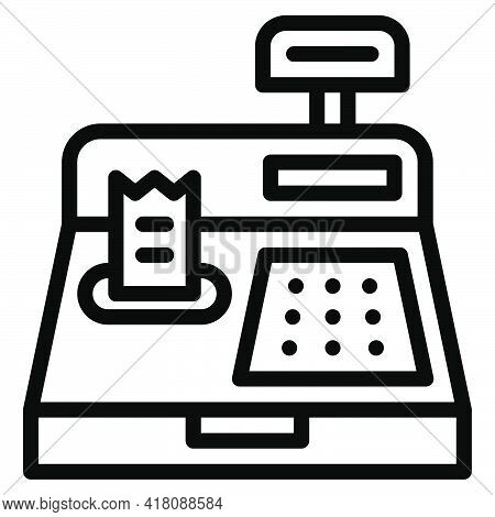 Cash Register Icon, Supermarket And Shopping Mall Related Vector Illustration