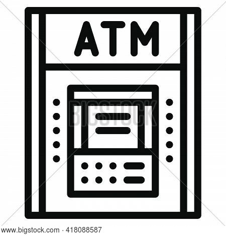 Atm Icon, Supermarket And Shopping Mall Related Vector Illustration