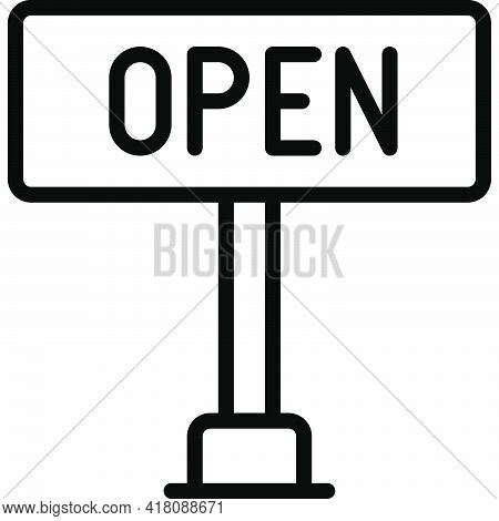 Open Sign Icon, Supermarket And Shopping Mall Related Vector Illustration