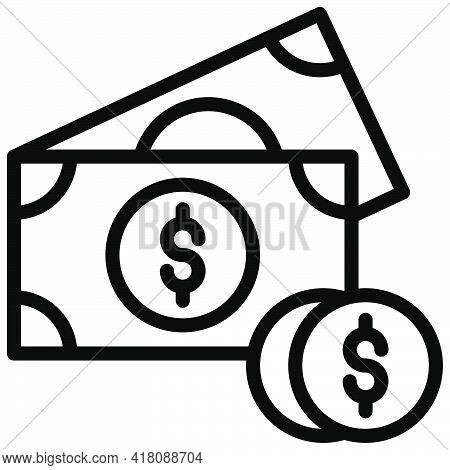 Money Icon, Supermarket And Shopping Mall Related Vector Illustration