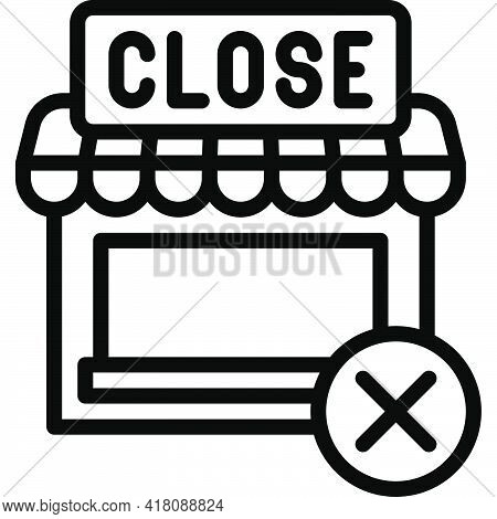 Closed Shop Icon, Supermarket And Shopping Mall Related Vector Illustration