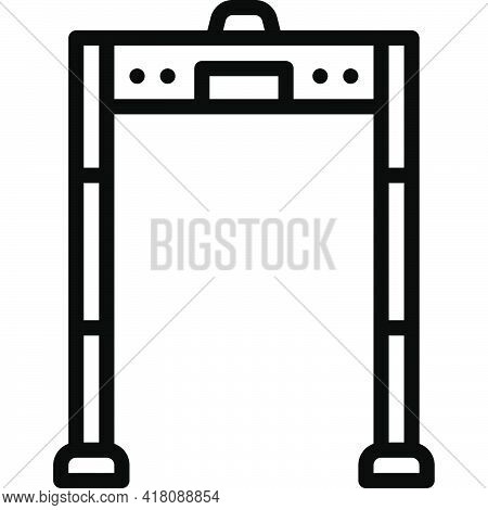 Metal Detector Door Icon, Supermarket And Shopping Mall Related Vector Illustration
