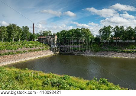 Kronstadt In The Summer. Part Of The Dry Dock (peter The Great Canal) - Dock Basin.