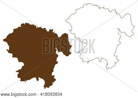 Vogelsbergkreis District (federal Republic Of Germany, Rural District Giessen Region, State Of Hesse
