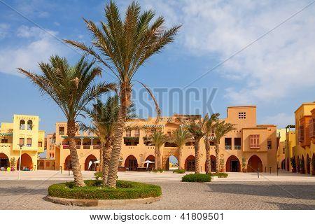 Plaza de la ciudad. El Gouna, Egipto