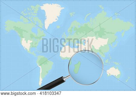 Map Of The World With A Magnifying Glass On A Map Of Mauritius Detailed Map Of Mauritius And Neighbo
