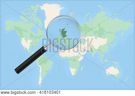 Map Of The World With A Magnifying Glass On A Map Of Scotland Detailed Map Of Scotland And Neighbori