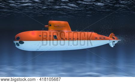 Submarine Of Indonesia Navy, Concept. 3d Rendering