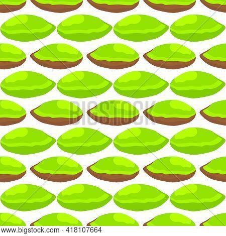 Illustration On Theme Big Pattern Identical Types Pistachio