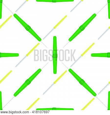Abstract Seamless Medical Pipette, Dropper For Laboratory On White Background