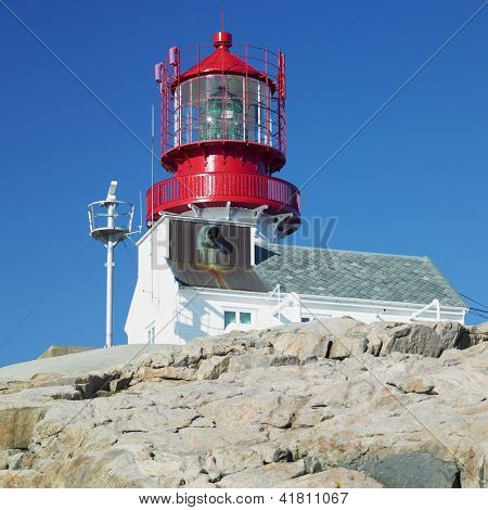 lighthouse, Lindesnes, Norway poster