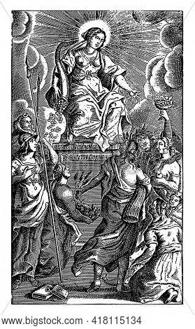 Personification of Generosity (Liberalitas), Matthias van Sommer, 1649