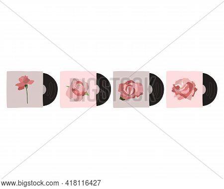 Vector Musical Vinyl Record In Retro Style
