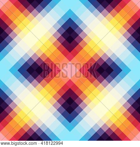 Abstract Seamless Pattern. Bright Neon Colors Of The Spectrum.