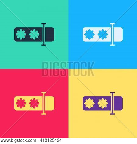 Pop Art Password Protection And Safety Access Icon Isolated On Color Background. Security, Safety, P