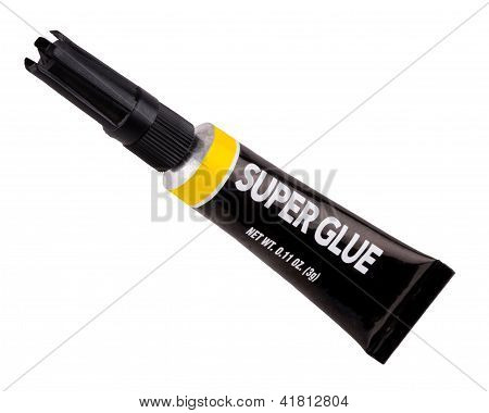 Isolated Tube Of Super Glue