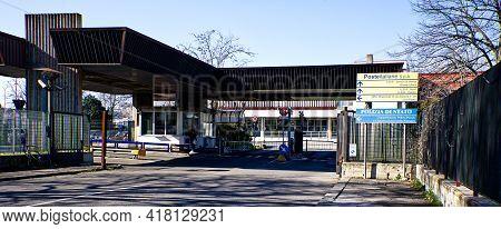 Bologna - Italy - March 1, 2021: Headquarters Of Poste Italiane S.p.a. (italian Post Office S.p.a.)