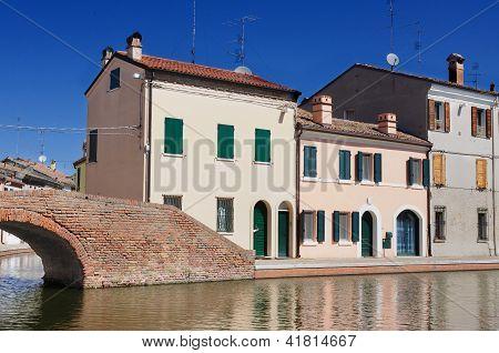 View Of Comacchio, Ferrara, Emilia Romagna, Italy