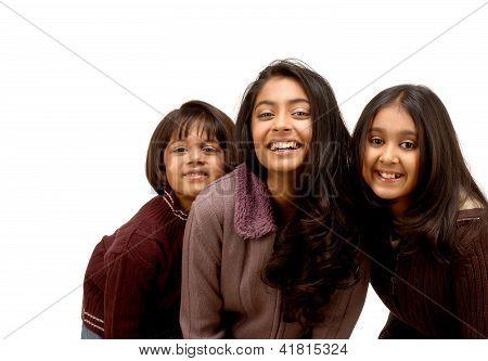Three Indian loving sisters