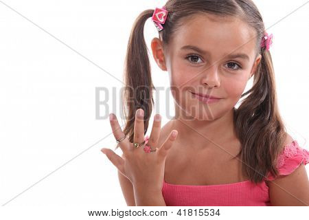 Little girl dressed in pink